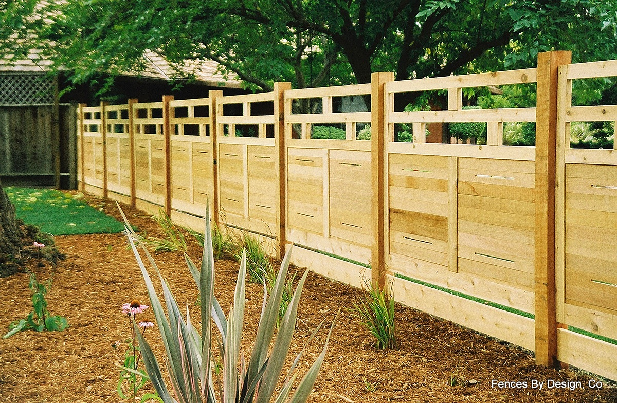 my business modular architectural redwood fencing
